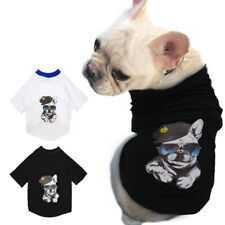 French Bulldog Clothes for Dogs Cats Boy Soft Cotton T-Shirt Pet Puppy Vest Pug