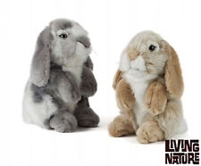 LIVING NATURE LOP EAR BUNNY PLUSH - CUTE FLUFFY CUDDLY RABBIT TEDDY TOY AN345
