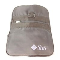 Vintage Sun Microsystems Computer Software Company Black Duffel Bag Folding