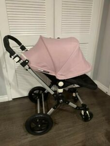 Bugaboo Cameleon 3 Baby Pink Travel System Single Seat Stroller With Bassinet