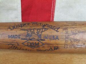 "Vintage 1930s Draper Maynard Wood Baseball Bat Model 68 Major League Special 33"""