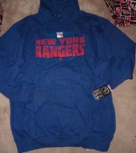 NEW NHL NY New York Rangers Hoodie Hooded Sweatshirt 2XLT -Big Tall Men NWT