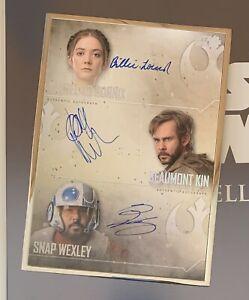 2020 STAR WARS STELLAR2020 Kaydel Ko Connix Kin Wexley Triple Auto Card 14/25