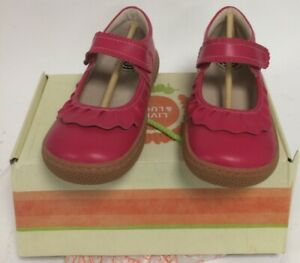 New Livie & Luca Ruche Shoes Hot Pink Classic Smooth Leather US size 3 Years