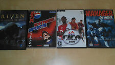 Lote Juegos PC: FIFA FOOTBALL 2005, MANAGER FUTBOL 2001-2002,RIVEN,EXTREME EXPOR