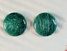 Natural Earth Mined Dark Russian Amazonite Cabochons 30 MM