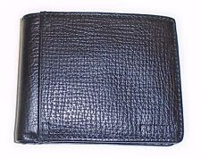 NEW-FOSSIL COLLIN BLACK PEBBLED LEATHER BIFOLD MEN'S WALLET