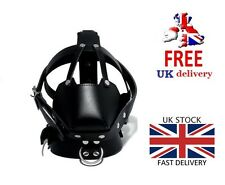 Bondage BDSM mask muzzle restraint hood fetish gear harness gimp UK SELLER