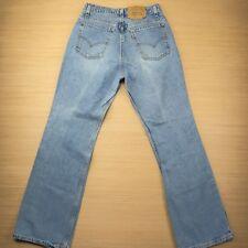 Levi's 917 Vtg Women Boot Cut High Waist Mom Denim Orange Tab Jeans Sz 13 JR M