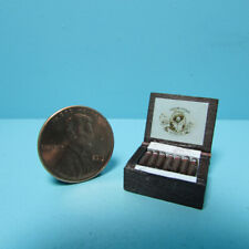 Dollhouse Miniature Wood Cigar Box with Replica Cigars IM65291