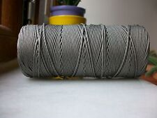 100 mètres de fil nylon GRIS tressé de 1mm Bracelet shamballa Collier Bijoux BO