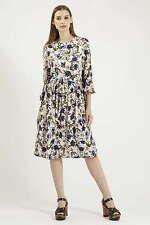 Topshop Autumn Floral Print Tie-Side Dress ( Size 4 US)