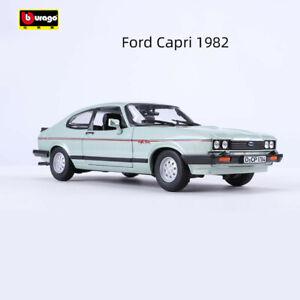 Bburago 1:24 Alloy Sports Car Model For Ford Capri 1982 Men Gift Static Display
