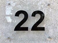 Hausnummer Acryl 3D Zahl - Türschild - Büroschild - Hausschild - Nummernschild