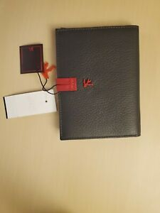 Isaia Passport & Card Holder Wallet Msrp $425.00
