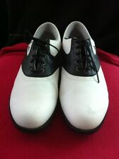 """Adidas Adiwear Traxion Golf Shoes """"Size 10"""" White & Black Used Very Good Cond."""