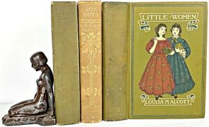 1919 edition LITTLE WOMEN SET 1st & pt 2 LOUISA MAY ALCOTT a Civil War JO'S BOYS