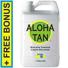 ALOHA TAN - DARK - 1 GALLON - Spray Tanning Solution / Sunless Self Tanner Mist