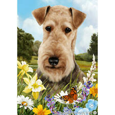Airedale Terrier Summer Flowers Flag