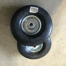Set Of 2 NEW 8x2.5 HARD RUBBER WHEEL For Hand Truck Dolly Replacement And Carts