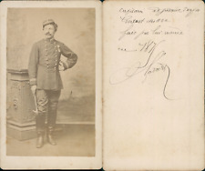 Homme en uniforme militaire nommé Capitaine Godart, circa 1871 CDV vintage album