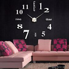 NEUF acrylique moderne 3D DIY Grand Horloge murale Surface Autocollant