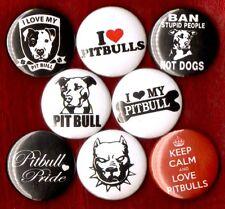PITBULLS 8 NEW button pin badge love heart my pitbull save pride STOCKING STUFFE