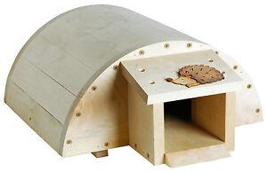 Igelhaus mit Innenisolierung und Klappe Igelfutterhaus Igelhotel Igelhütte Holz