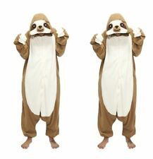 Faultier Sloth Pyjamas Kostüm Jumpsuit Tier Schlafanzug Erwachsene Unisex