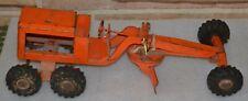 Vintage Structo Road Grader Orange Pressed Steel