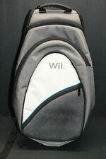 Nintendo Wii Backpack Tavel Bag Console Pad Shoulder Sling Shoulder Gray Pocket