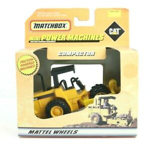 Matchbox 1999 Mini Power Machines CAT Compactor Mattel Wheels NOS