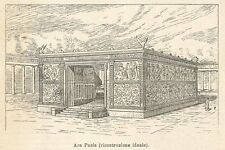 A7929 Ara Pacis - Xilografia - Stampa Antica del 1924 - Engraving