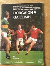 Gaa All Ireland Football semi final draw 1987 Cork v Galway Senior and Minor