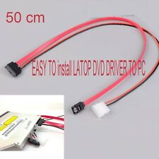 7+6 Pin Slimline SATA Cable for Slim latop SATA DVD+/-RW Drive power cord to PC
