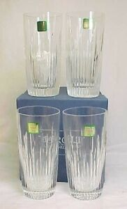 Set of 4 Hi Ball Glasses Barcelona By Waterford Marquis Crystal w/ Box High NEW