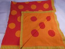 Ikea Barnslig Prickar Orange Polka Dot Baby Reversible Blanket