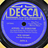 Bob Crosby Angel in Disguise 78 EX+ Decca 3070 Marion Mann Moments in Moonlight