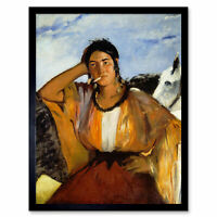 Edouard Manet Gypsy Cigarette Painting Framed Wall Art Poster