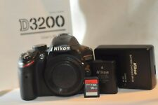 Nikon D D3200 24.2 MP Digital SLR Camera ONLY 16 GB card shutter count 6637