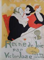TOULOUSE-LAUTREC: Reina de Joie - Litografía Colores Firmada, 1927 Por Precio
