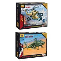 "Model Kits ""Modern military Attack Helicopters air forces Cold war"" 1:144 Zvezda"