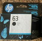 New Genuine HP 63 F6U62AN Black Ink Cartridge Exp 2023