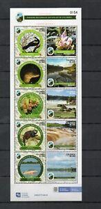 COLOMBIA, 2020,  DOLPHIN, REPTILES, BIRDS, AMAZONIA, S/S.,MNH, NEW!