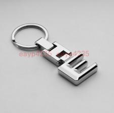 Luxury Alloy Two-Side logo 3D car keychain keyring Key holder Mercedes Benz E