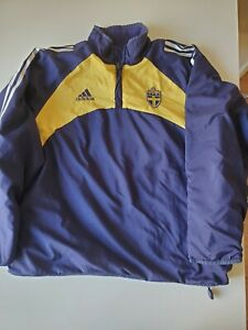 Vintage Adidas 90s Sweden National Soccer 1/4 zip double-side tracksuit Men SzXL