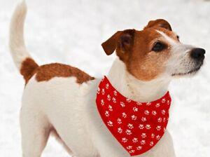 Hunde Halsband mit Halstuch Hunde Welpen Tuch Halstuch verstellbar 16 bis 45cm