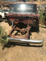 1965 Ford F250 cab body, chassis, transfer case, hood, donor truck
