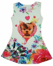 Vestidos de niña de 2 a 16 años de color principal multicolor de poliéster sin mangas