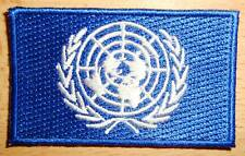 Un United Nations Flag Embroidered Patch Badge